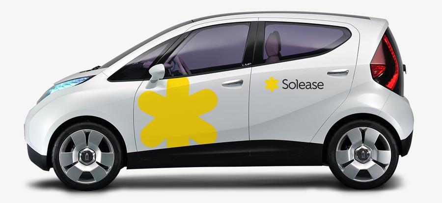 Elektrische concept auto bestickering