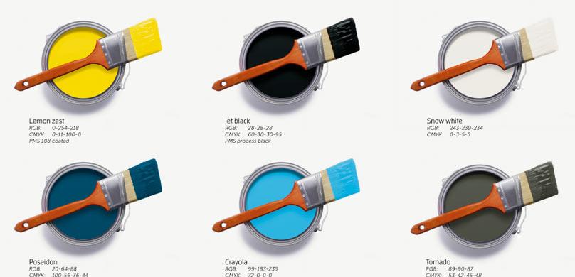 Opbouw verschillende kleuren huisstijl Solease